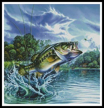 Airborne Bass by Artecy printed cross stitch chart